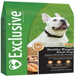 Exclusive Healthy Weight Adult Chicken & Rice Formula Dog Food