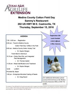 Medina County Cotton Field Day