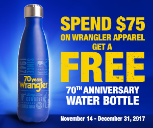 Free Wrangler Water Bottle With Purchase