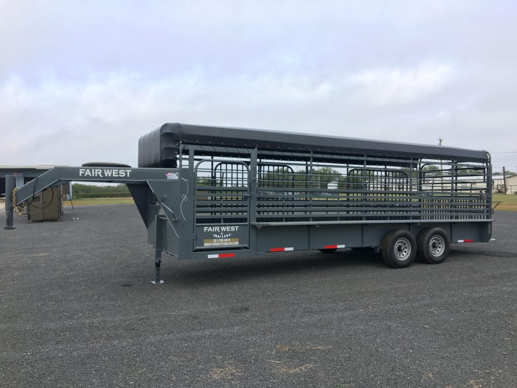Fair West Gooseneck Livestock Trailers available at Mumme's Inc in Pearsall, Texas